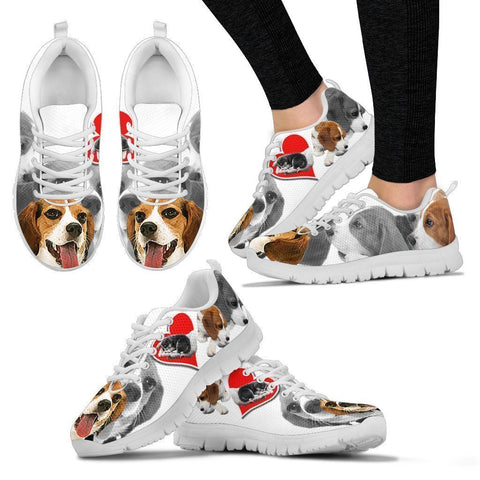 Amazing Beagle Print Running Shoes For Women-Free Shipping-Paww-Printz-Merchandise