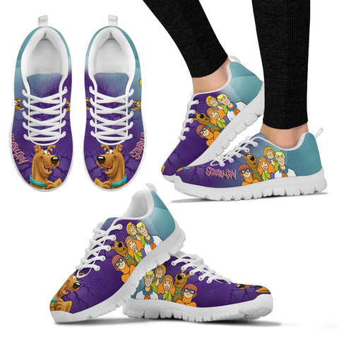 New Scooby Doo Print Running Shoes For Women- Free Shipping