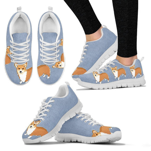 Cute Pembroke Welsh Corgi Print Running Shoes For Women-Free Shipping-Paww-Printz-Merchandise