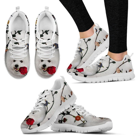 Bichon Frise Dog Running Shoes For Women-Free Shipping-Paww-Printz-Merchandise