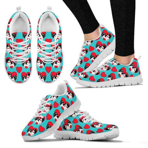 Japanese Chin Pattern Print Sneakers For Women- Express Shipping-Paww-Printz-Merchandise
