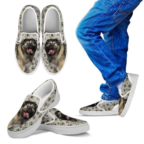 Caucasian Shepherd Dog Print Slip Ons For Kids-Express Shipping-Paww-Printz-Merchandise
