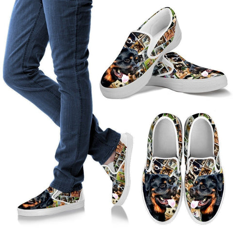 Amazing Rottweiler Dog Print Slip Ons For Women-Express Shipping-Paww-Printz-Merchandise