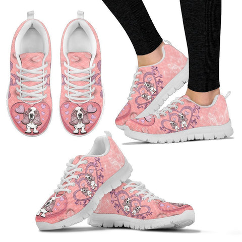 Valentine's Day Special-Basset Hound Print Running Shoes For Women-Free Shipping-Paww-Printz-Merchandise
