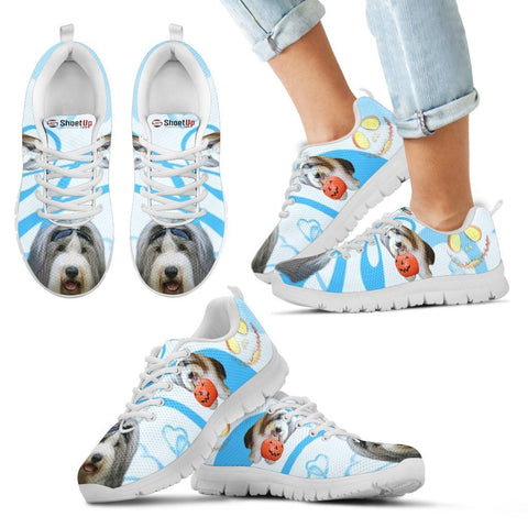 Bearded Collie Happy Halloween Print Running Shoes For Kids-Free Shipping