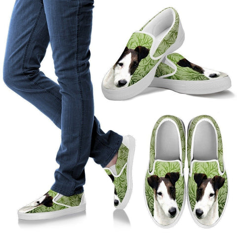 Smooth Fox Terrier Dog Print Slip Ons For Women-Express Shipping-Paww-Printz-Merchandise