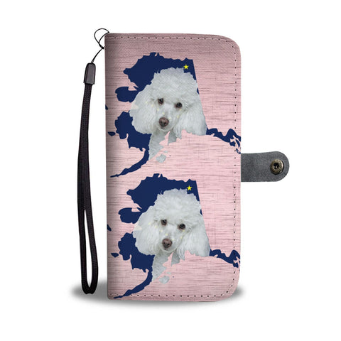 Poodle Dog Print Wallet Case-Free Shipping-AK State