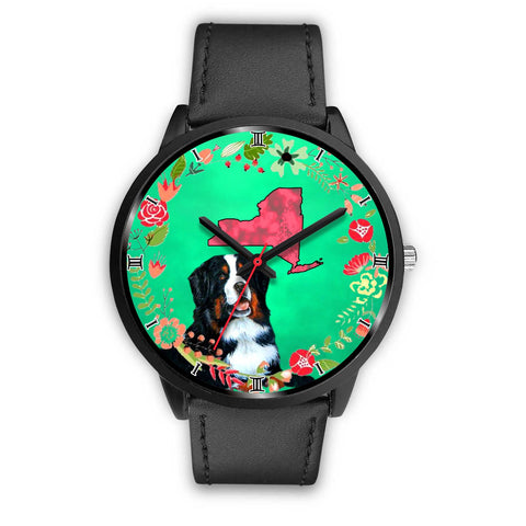 Bernese Mountain Dog New York Christmas Special Wrist Watch-Free Shipping