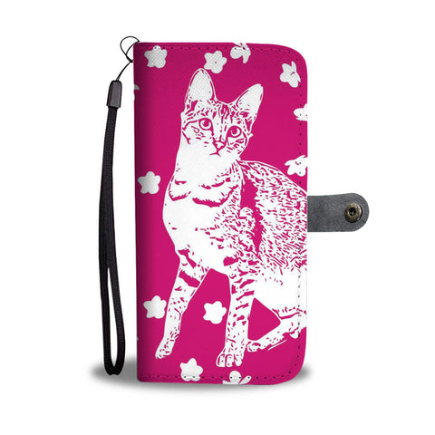 Savannah Cat Print Wallet Case-Free Shipping