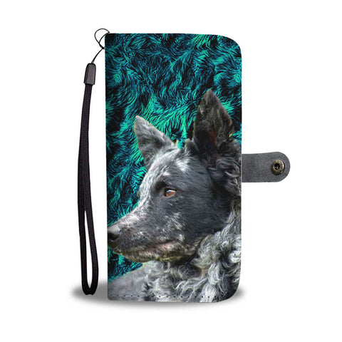 Amazing Mudi Dog Pattern Print Wallet Case-Free Shipping