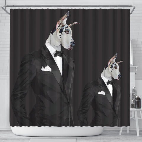 Amazing Great Dane Dog Print Shower Curtain-Free Shipping