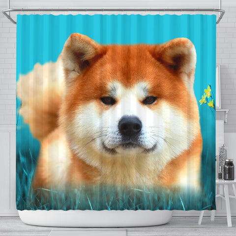Lovely Akita Dog Print Shower Curtains-Free Shipping