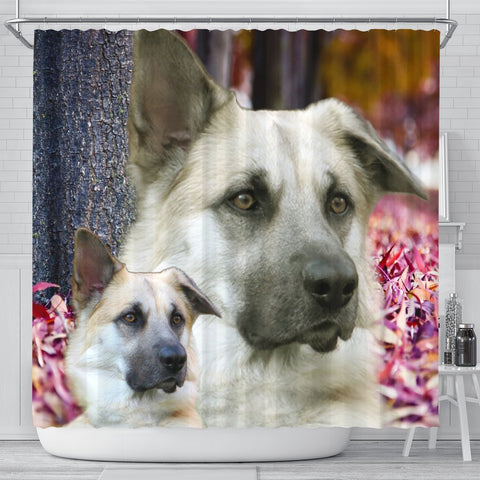 Cute Chinook Dog Print Shower Curtains-Free Shipping