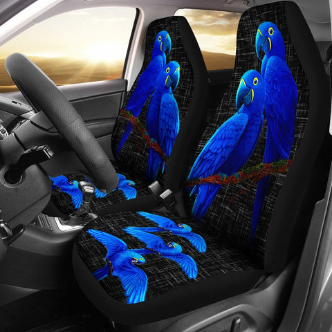 Hyacinth Macaw Parrot  Print Car Seat Covers- Free Shipping