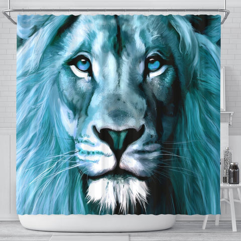 Amazing Lion Art Print Limited Edition Shower Curtains-Free Shipping
