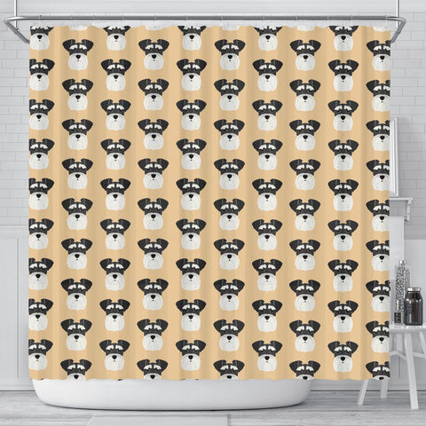 Miniature Schnauzer Dog Pattern Print Shower Curtains-Free Shipping