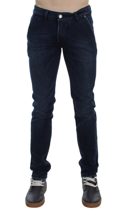 ACHT Jeans BLUE WASH COTTON STRETCH SLIM FIT JEANS