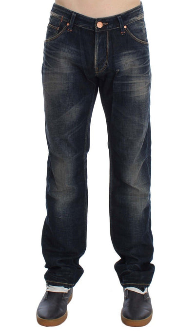 ACHT Jeans BLUE WASH STRAIGHT FIT LOW WAIST JEANS