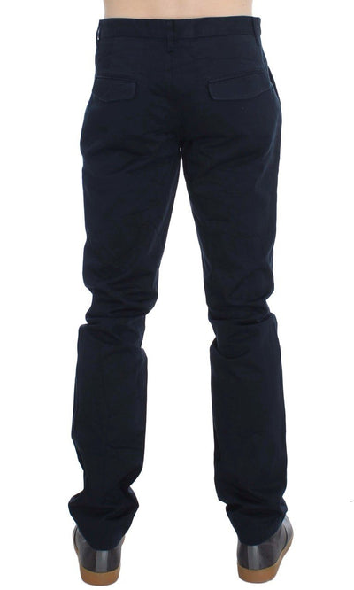 EXTE Jeans BLUE COTTON REGULAR FIT CHINOS PANTS