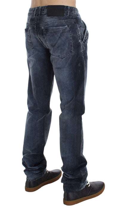 EXTE Jeans BLUE WASH COTTON STRETCH SLIM FIT JEANS