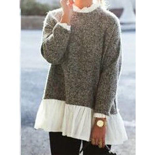 Fashion Knit Skirt Shirt
