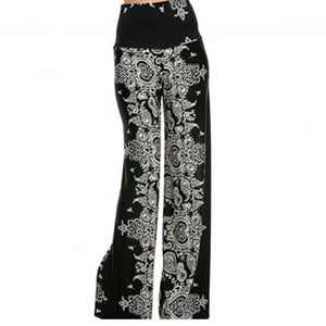 Fashion High Waist Printing Long Pants