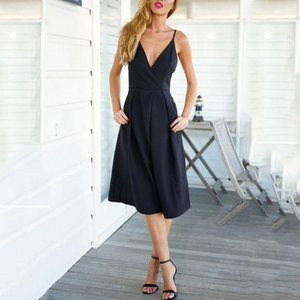 Spaghetti Strap  Backless  Plain  Sleeveless Jumpsuits