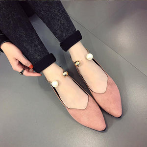 Pointed Pearl Breathable Flats