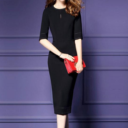 Ladies New Long Thin Bag Hip Step Skirt