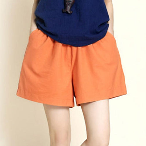 Loose Cotton And Linen Sport Casual Short Pants