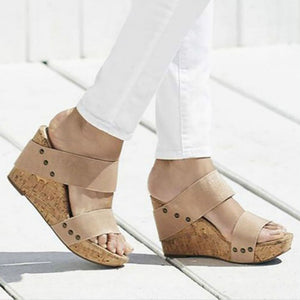 Women Slip on Wedge Sandals Casual Platform Shoes Pumps