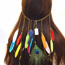 Fashion Hippie Peacock Feather Hair Accessories