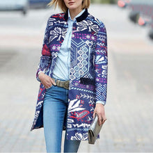 New Arrival Fashion Elegant Slim Floral Long Sleeve Suit Coat