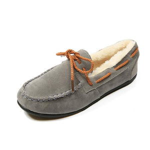 Plain  Flat  Faux Suede  Criss Cross  Casual Flat & Loafers