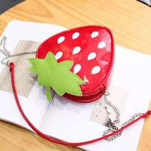 Cute Strawberry Shaped Kids Crossbody Bag