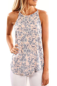 Round Neck  Floral Vests