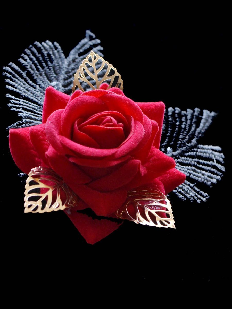 Red Rose Party Hair Accessories