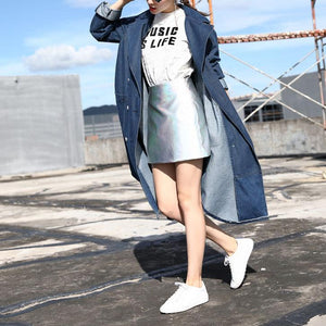 Maternity Casual Jeans Trench Coat