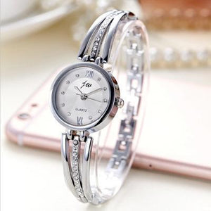 Rhinestone Stainless Steel Bracelet Women Watches