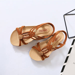 Straps Flat Slope Heel Sandals