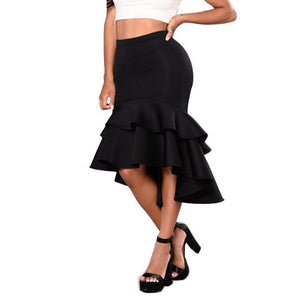Sexy Fishtail Ruffle Hem Skirt