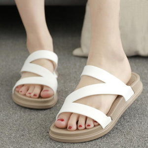 Flat  Peep Toe  Beach Casual Slippers