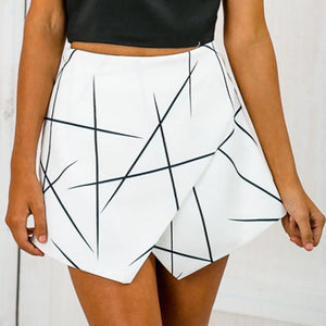 Sexy Geometric Printing Irregular Short Pants