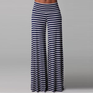 Casual Classic Stripes Loose Long Pants