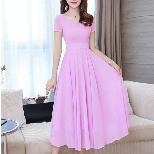 The New Trend Chiffon Skirt Dress