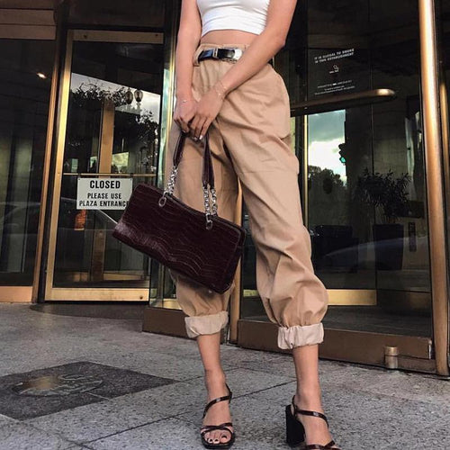 High-Waist Sports Casual Pants