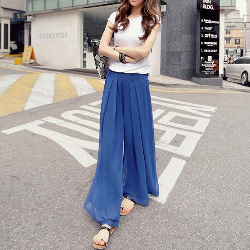 Loose Large Size Thin Chiffon Pants