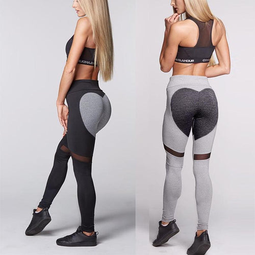 Peach Heart Shaped Leggings Yoga Pants