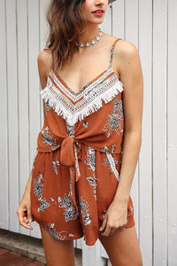 Stylish Splicing Sleeveless Pocket Romper