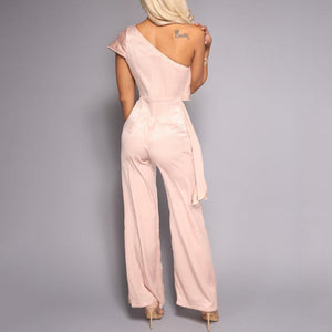 Sloping Shoulder Jumpsuit